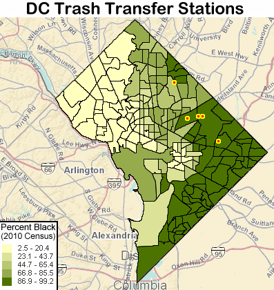 DC Trash Transfer Station map