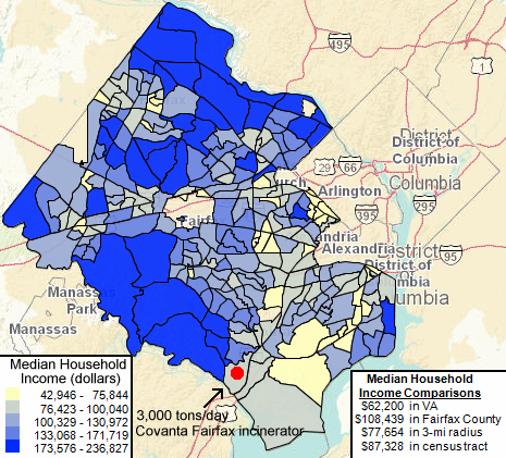 Fairfax County Income Map